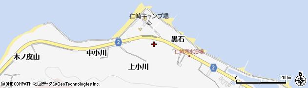 愛知県田原市仁崎町(黒石)周辺の地図
