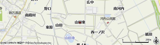 愛知県豊橋市杉山町(山田東)周辺の地図