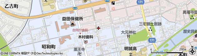 島根県益田市三宅町周辺の地図