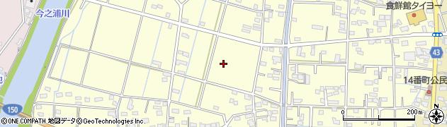 静岡県磐田市福田中島周辺の地図