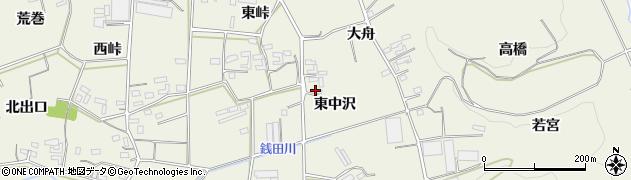 愛知県豊橋市小島町(東中沢)周辺の地図