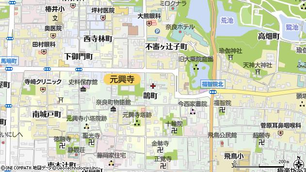 〒630-8391 奈良県奈良市鵲町の地図