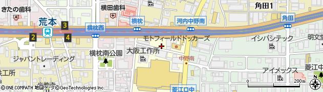 大阪府東大阪市中野南周辺の地図
