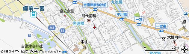 岡山県岡山市北区一宮周辺の地図