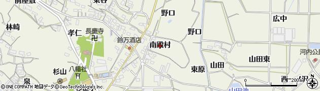 愛知県豊橋市杉山町(南殿村)周辺の地図