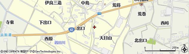 愛知県豊橋市小松原町(天目山)周辺の地図