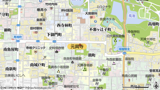 〒630-8392 奈良県奈良市中院町の地図