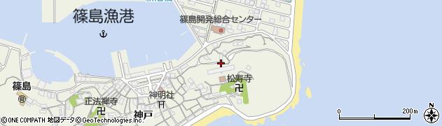 愛知県南知多町(知多郡)篠島(東山)周辺の地図
