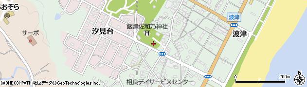 静岡県牧之原市波津西仲丁周辺の地図