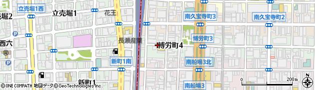 大阪府大阪市中央区博労町4丁目周辺の地図