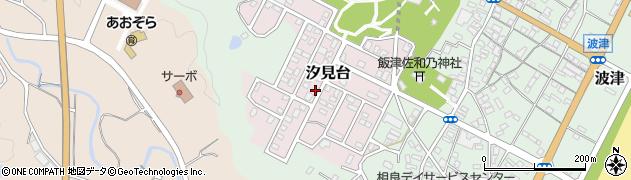 静岡県牧之原市汐見台周辺の地図