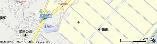 愛知県田原市吉胡町(中新地)周辺の地図