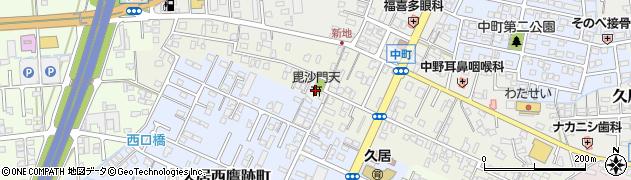 毘沙門天周辺の地図