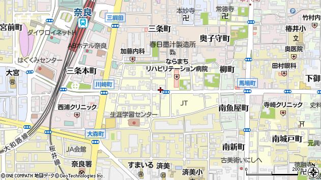 〒630-8357 奈良県奈良市杉ケ町の地図