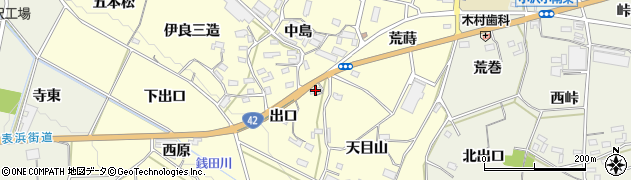 愛知県豊橋市小松原町(出口)周辺の地図
