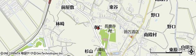 愛知県豊橋市杉山町(孝仁)周辺の地図