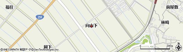愛知県豊橋市杉山町(向山下)周辺の地図