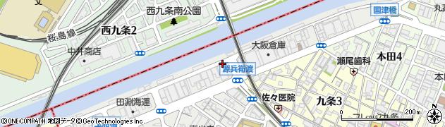 大阪府大阪市西区安治川周辺の地図