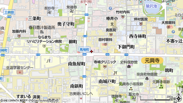 〒630-8352 奈良県奈良市北風呂町の地図