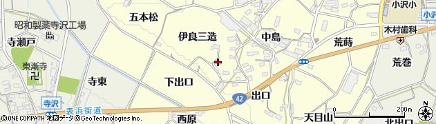 愛知県豊橋市小松原町(伊良三造)周辺の地図