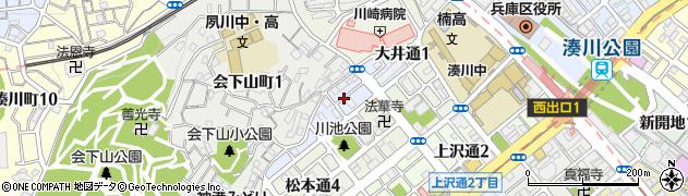 兵庫県神戸市兵庫区大井通周辺の地図