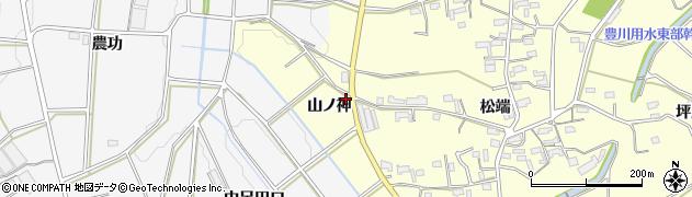 愛知県豊橋市東七根町(山ノ神)周辺の地図