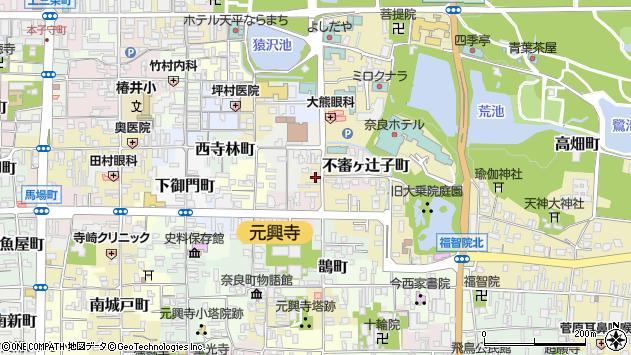 〒630-8393 奈良県奈良市鶴福院町の地図