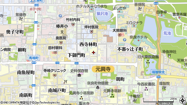 〒630-8363 奈良県奈良市勝南院町の地図