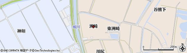 愛知県田原市谷熊町(洲崎)周辺の地図