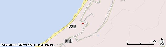 愛知県田原市白谷町(犬喰)周辺の地図