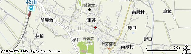 愛知県豊橋市杉山町(東谷)周辺の地図