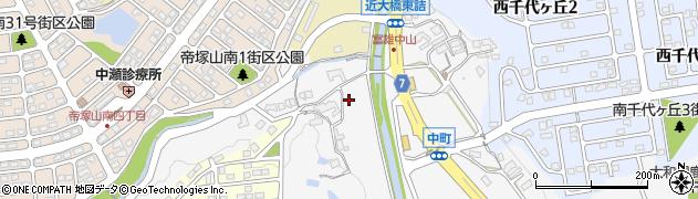 奈良県奈良市中町3733周辺の地図