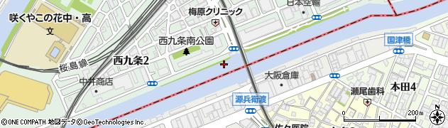 安治川トンネル(歩行者用)周辺の地図