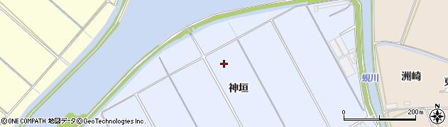 愛知県田原市豊島町(神垣)周辺の地図