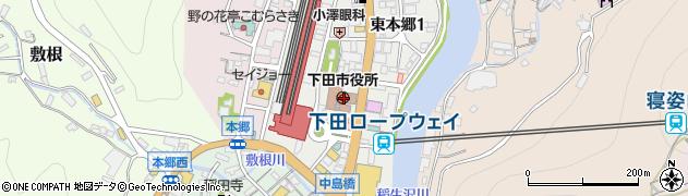 静岡県下田市周辺の地図