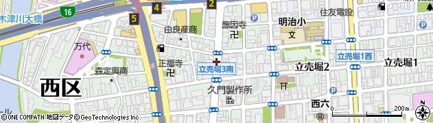 大阪府大阪市西区立売堀周辺の地図