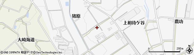 愛知県豊橋市西七根町(猪原)周辺の地図