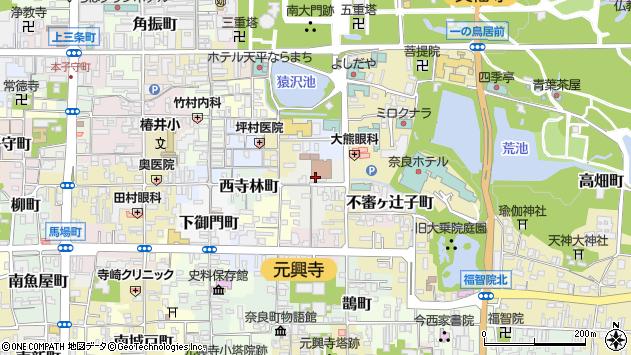 〒630-8362 奈良県奈良市東寺林町の地図