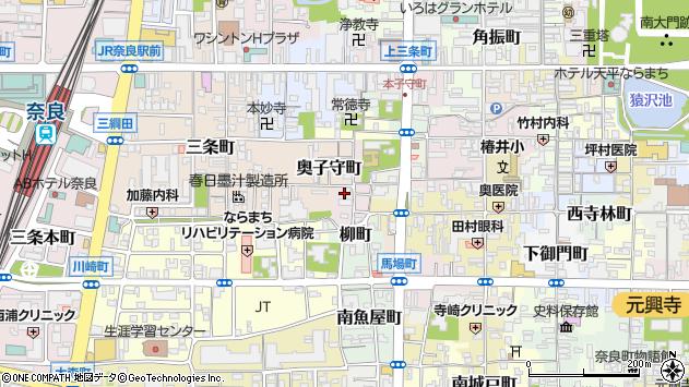 〒630-8234 奈良県奈良市寺町の地図