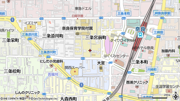 〒630-8121 奈良県奈良市三条宮前町の地図