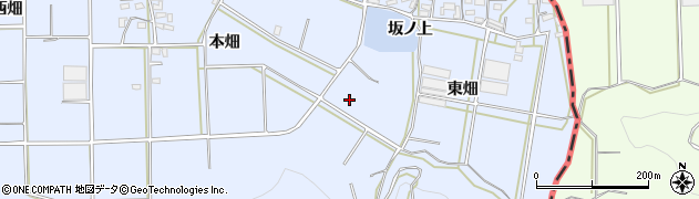 愛知県豊橋市東細谷町(本畑)周辺の地図