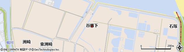 愛知県田原市谷熊町(谷熊下)周辺の地図