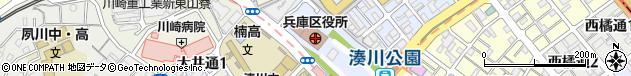 兵庫県神戸市兵庫区周辺の地図