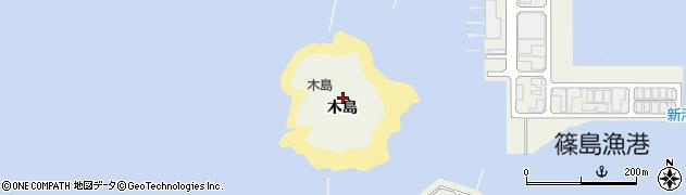愛知県南知多町(知多郡)篠島(木島)周辺の地図