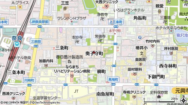 〒630-8235 奈良県奈良市奥子守町の地図