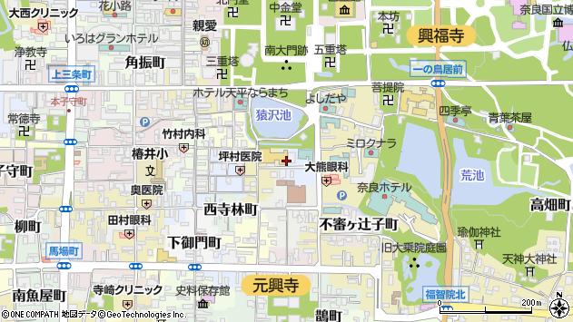 〒630-8361 奈良県奈良市池之町の地図