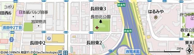 大阪府東大阪市長田東周辺の地図