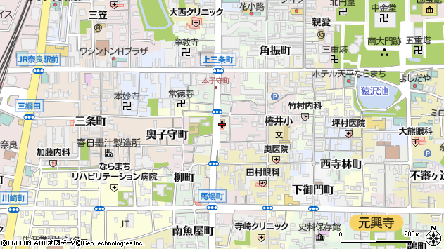〒630-8233 奈良県奈良市小川町の地図