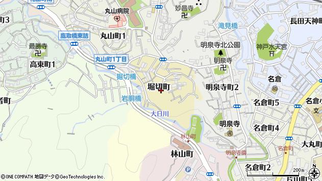 〒653-0885 兵庫県神戸市長田区堀切町の地図