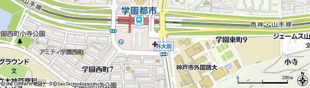 ピープル薬局・学園都市周辺の地図
